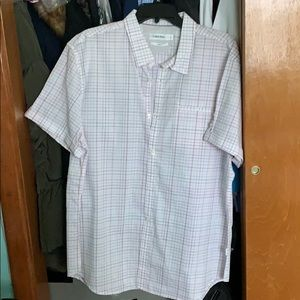 Calvin Klein slim fit short sleeve button down XL